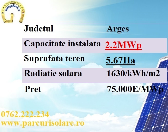 proiect fotovoltaic 2.2 mw